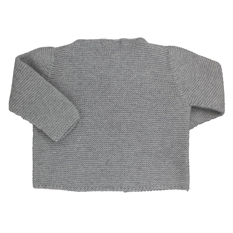 Baby grey Unisex knitted cardigan - orkids boutique