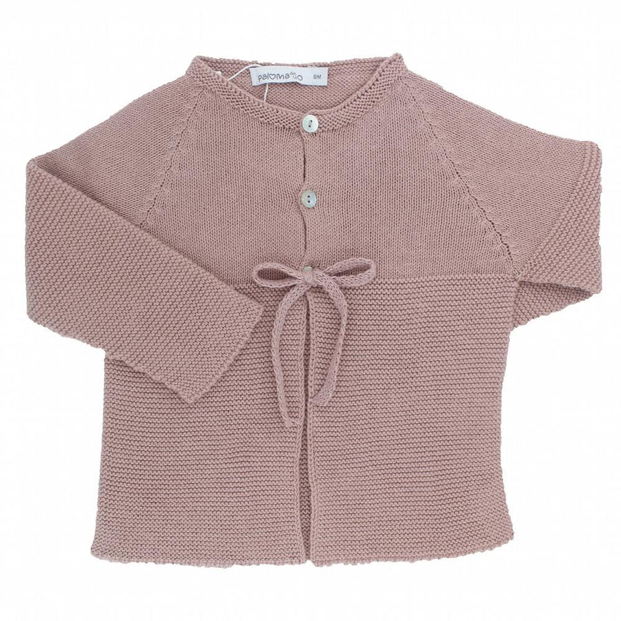 Girls pink knitted cardigan - orkids boutique