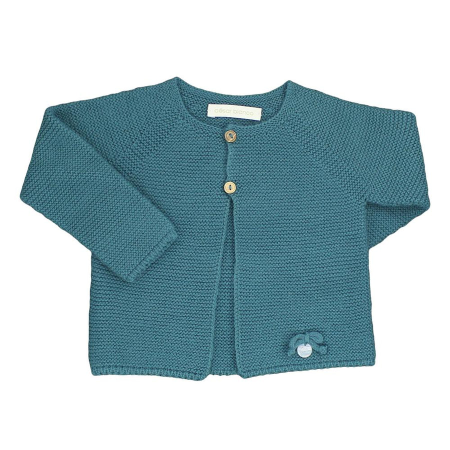 Petroleum knitted cardigan - orkids boutique
