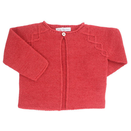 Red Knitted cardigan - orkids boutique