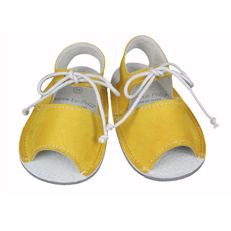 Laced Menorquina Yellow Shoes - orkids boutique