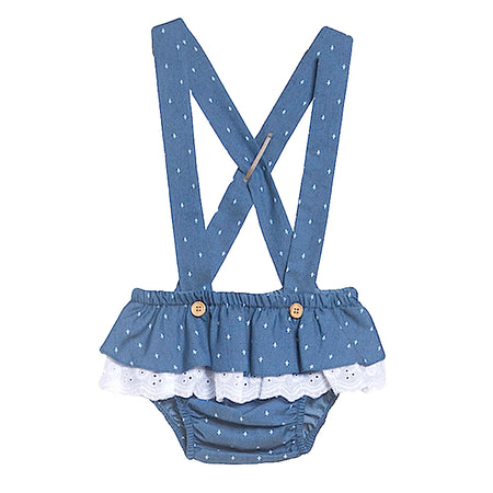 Baby Denim Romper - orkids boutique