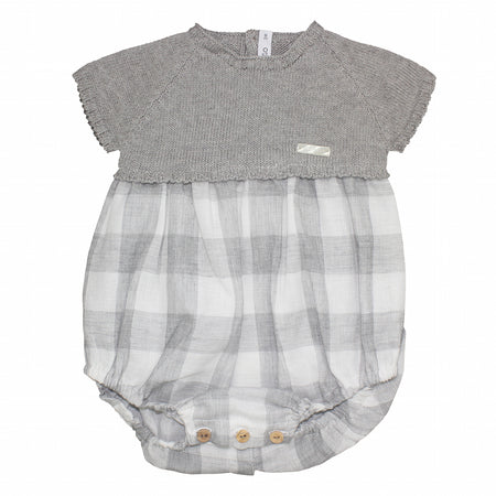 Baby check romper - orkids boutique