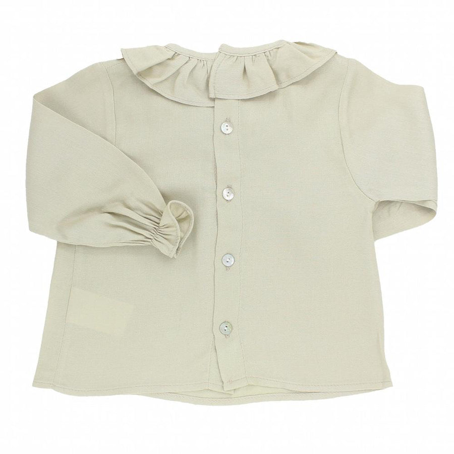 Baby light brown ruffled blouse - orkids boutique