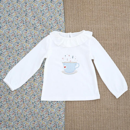 'Come for Tea' Collar T-shirt - orkids boutique