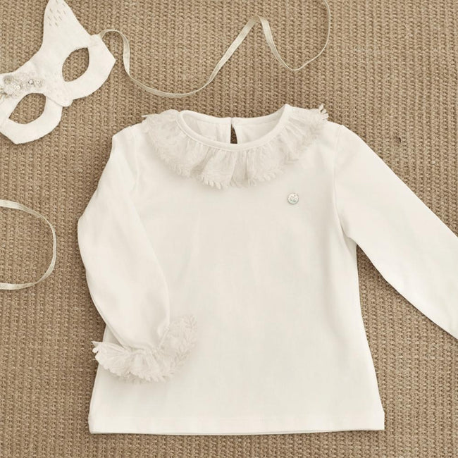 Embroidered Leaves Collar Top - orkids boutique