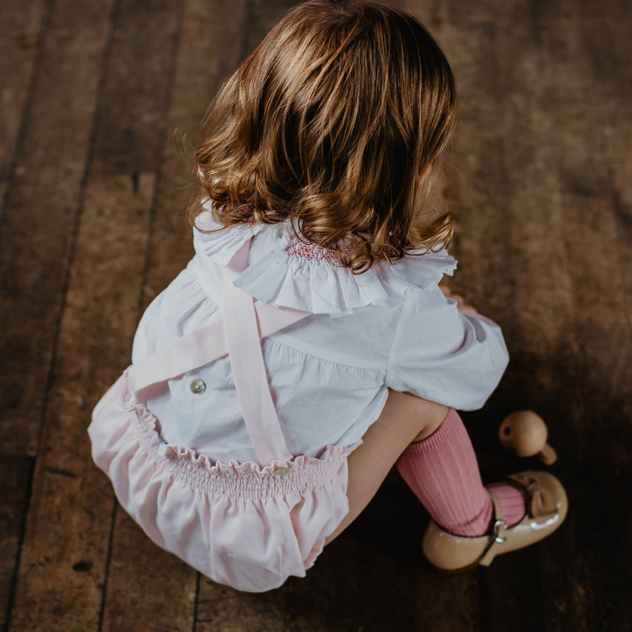 Hand-smock Girl Blouse - orkids boutique