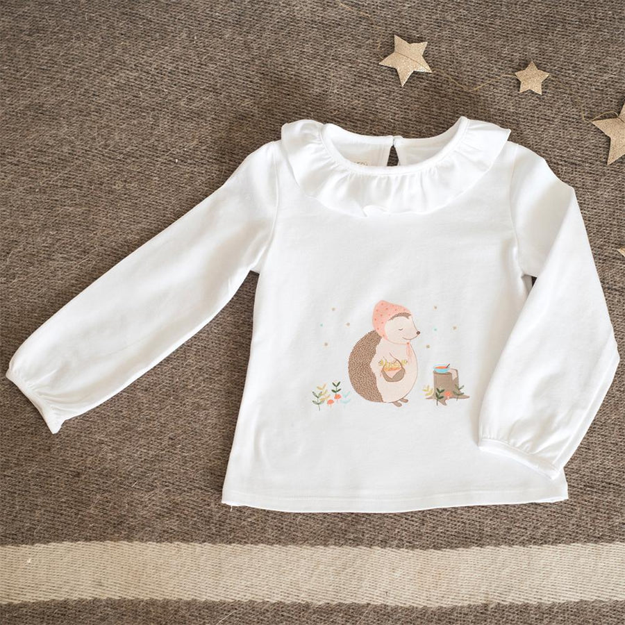 Hedgehog Collar T-shirt - orkids boutique