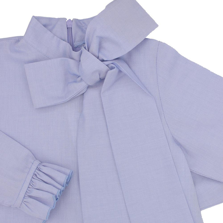Blue bow blouse - orkids boutique
