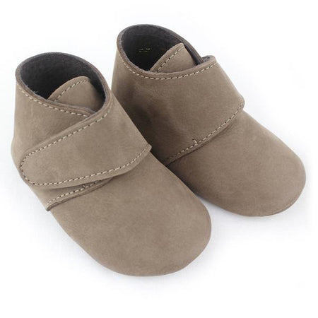 Baby boy taupe leather shoes - orkids boutique