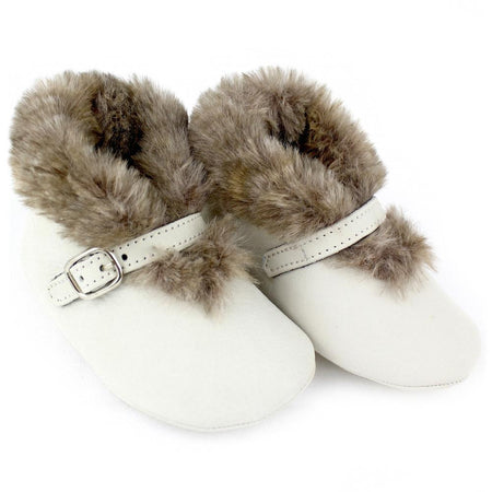 Baby girl greige buckle shoes - orkids boutique
