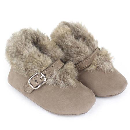 Baby girl light brown buckle shoes - orkids boutique