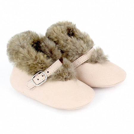 Baby girl light pink buckle shoes - orkids boutique