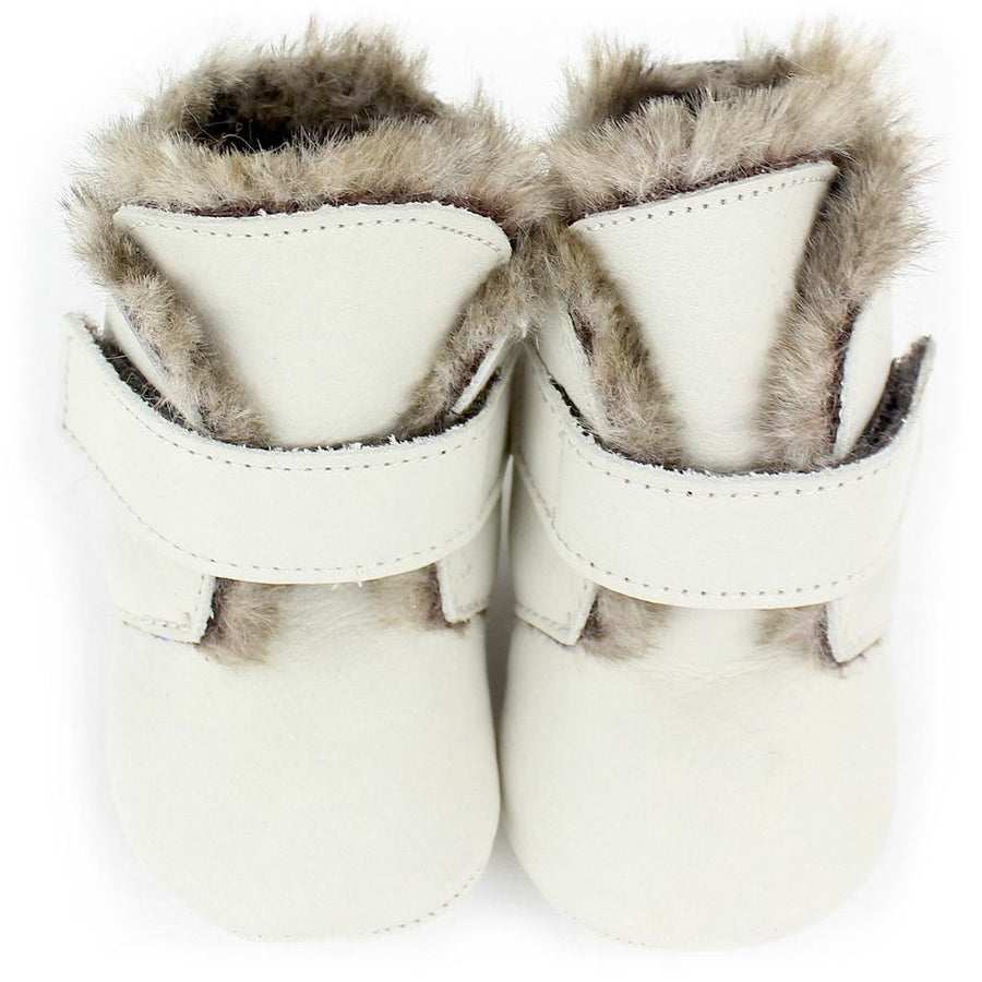Unisex greige velcro baby shoes - orkids boutique