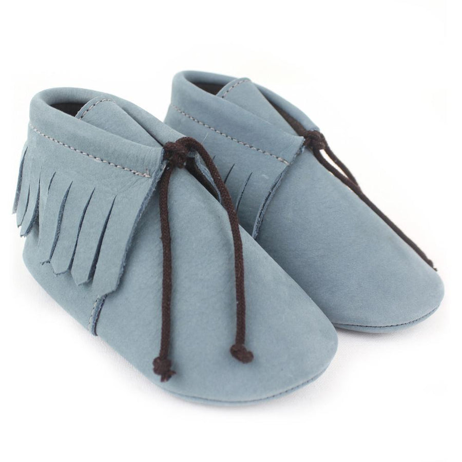 Unisex light blue Saqueto baby shoes - orkids boutique