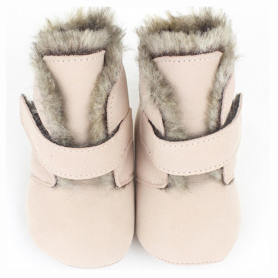 Unisex light brown velcro baby shoes - orkids boutique