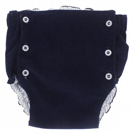 Baby navy blue corduroy shorts - orkids boutique