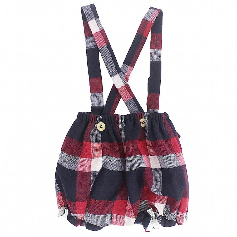 Girl tartan check dungaree - orkids boutique