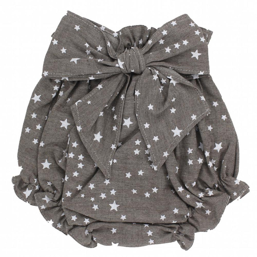 Taupe Star baby bloomer - orkids boutique