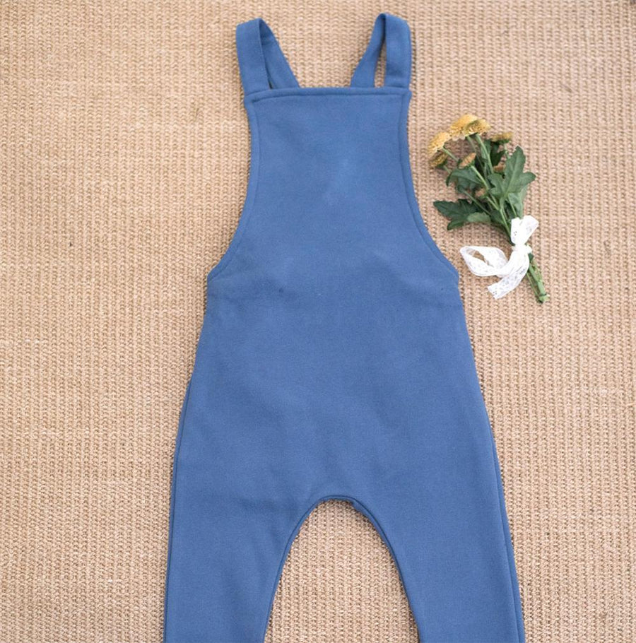Blue cotton Dungaree - orkids boutique