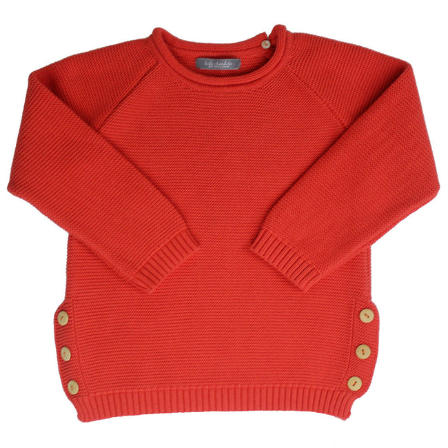 Cotton Knitted Jumper Red - orkids boutique