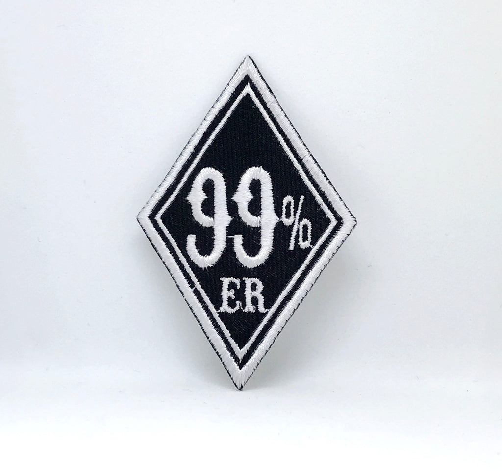 99% ER 99 Percenter Motorcycle Biker Iron Sew On EMBROIDERED Patch