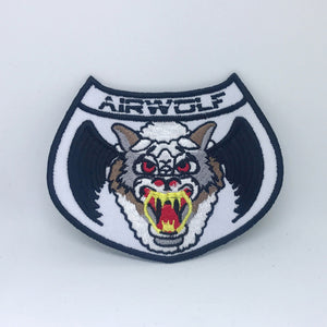 "AIRWOLF - 1980's TV Series Helicopter Crew 4"" Embroidered Iron-On Patch"