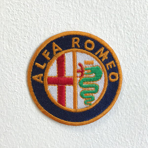 Alfa Romeo Automobiles Motorsports logo Iron Sew on Embroidered Patch - Patches-Badges