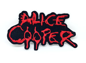 ALICE COOPER PUNK ROCK HEAVY METAL MUSIC Iron Sew on Embroidered Patch