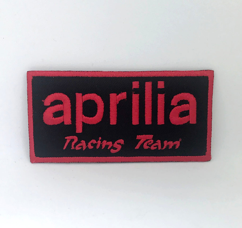 Aprilia Racing Team Title Biker Iron on Sew on Embroidered Patch - Patches-Badges