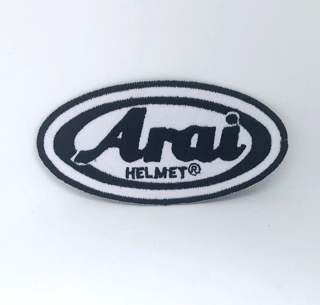 Arai Helmet Motorcycles Racing Biker Iron/Sew-on Embroidered Patch - Patches-Badges