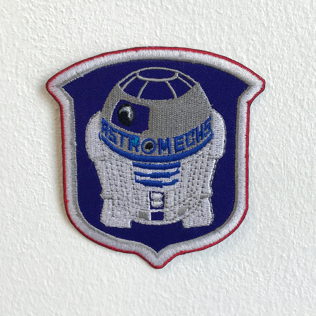 Astromechs Droid Robot Iron or Sew on Embroidered Patch - Patches-Badges