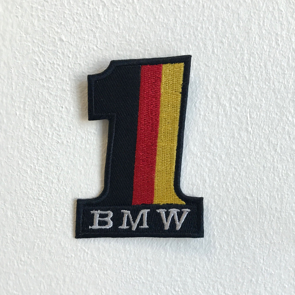 Bmw 1 Germany flag Badge logo Iron Sew on Embroidered Patch - Patches-Badges