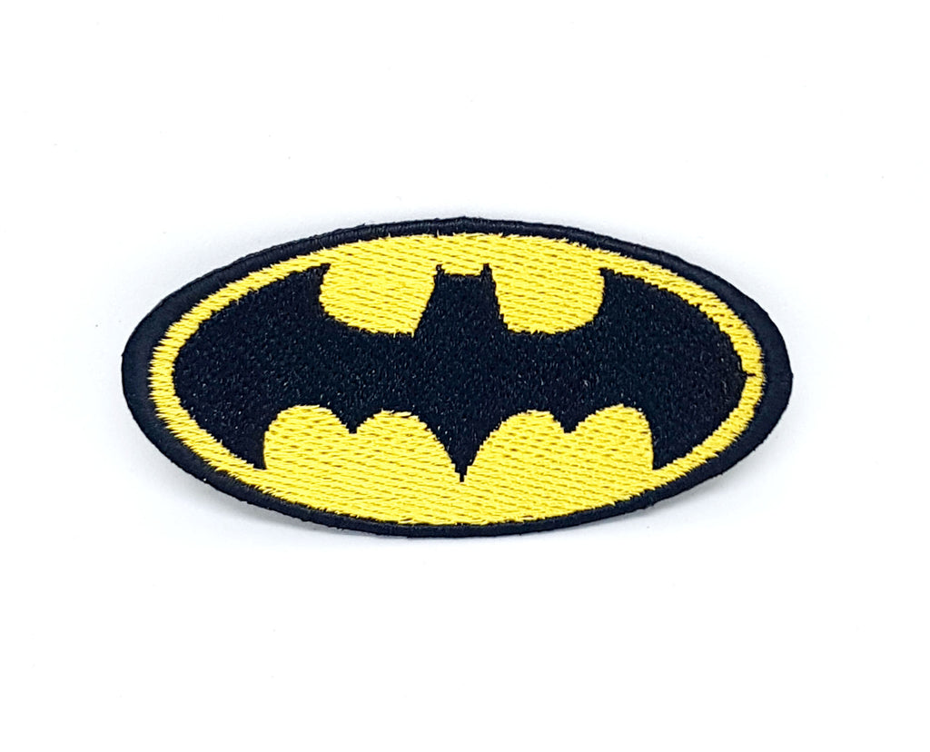 Comic Character Marvel Avengers and DC Comics Iron or Sew on Embroidered Patches - Batman Logo