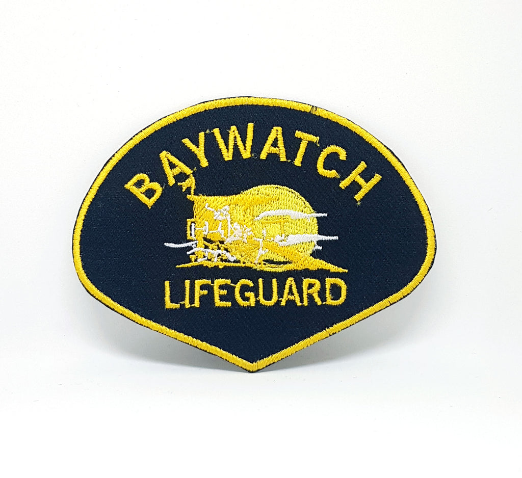 Baywatch Lifeguard, Life Guard IRON SEW ON EMBROIDERED Patch - Patches-Badges