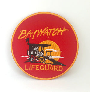 BAYWATCH Swimsuit Lifeguard Logo Iron-On Embroidered Patch - Patches-Badges