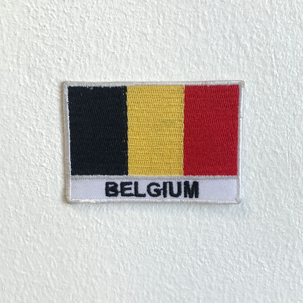 Belgium country flag Iron Sew on Embroidered Patch