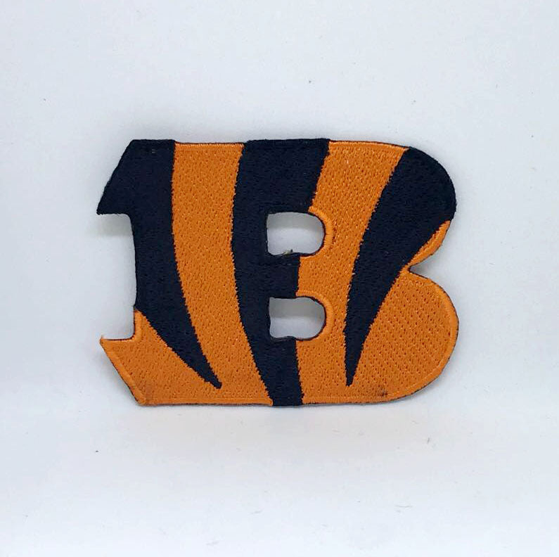 Cincinnati Bengals B NFL Sport Iron on Sew on Embroidered Patch - Patches-Badges