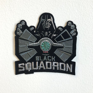 Black Squadron Badge logo Iron Sew on Embroidered Patch - Patches-Badges