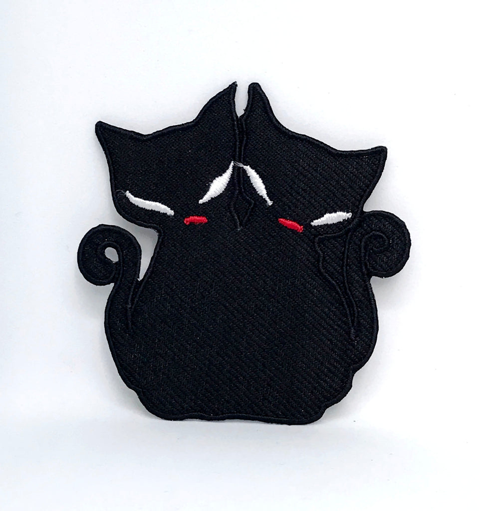 Animal dogs cats snakes honey bee bear spider lamb Iron/Sew on Patches - Cute Black Cats - Patches-Badges