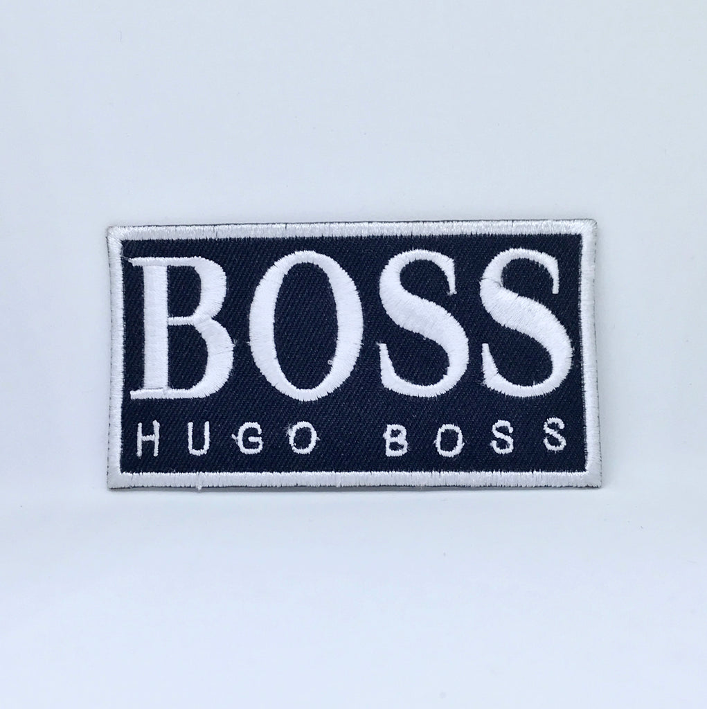 Hugo Boss Brand Badge Iron Sew on Embroidered Patch - Patches-Badges