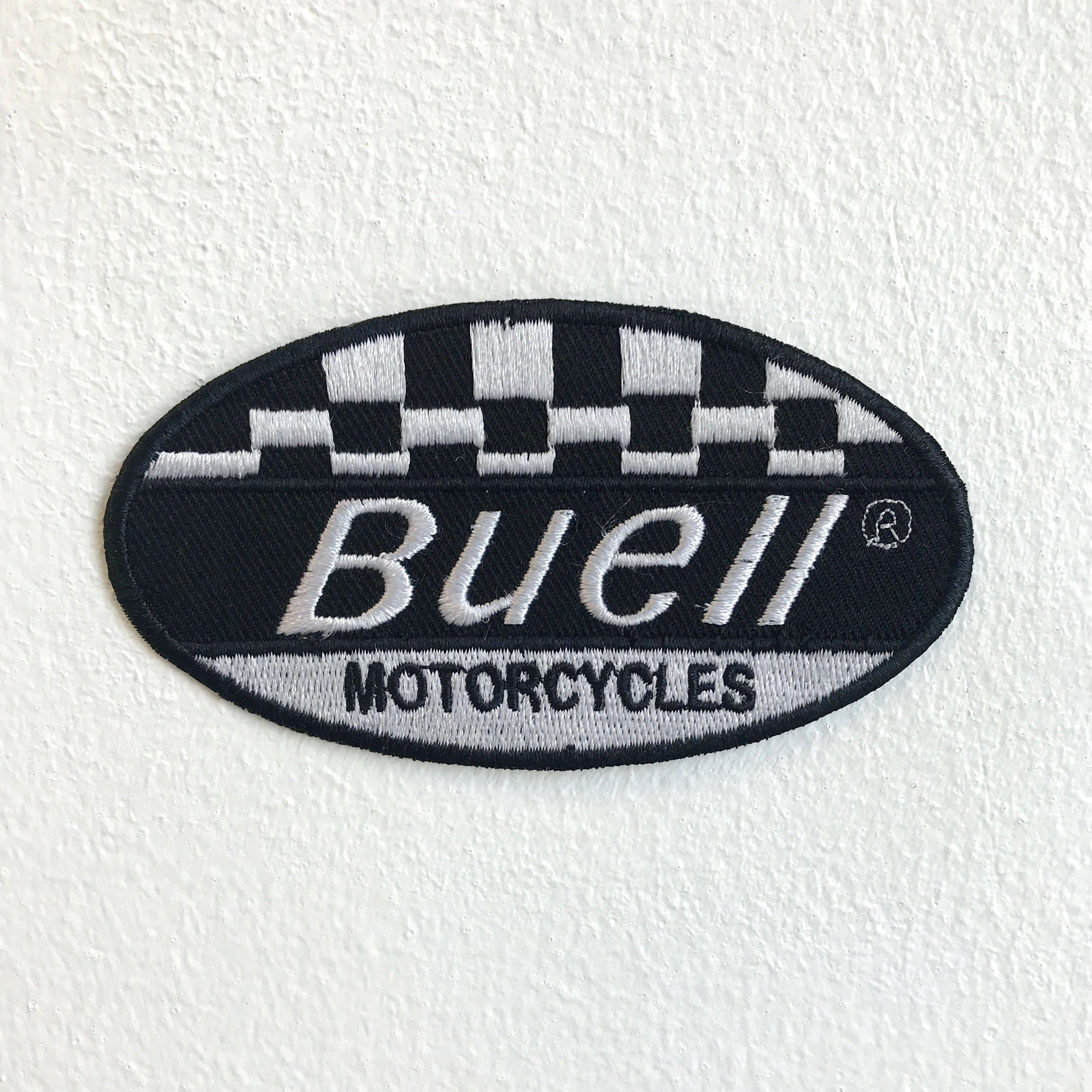 Buell Motorcycles Motorsports racing biker badge Iron Sew on Embroidered Patch - Patches-Badges