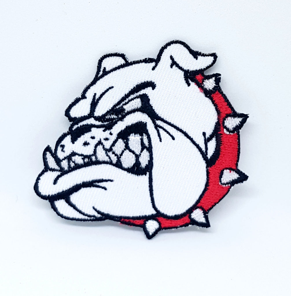 British Bulldog Head Iron Sew On Embroidered Patch - Patches-Badges