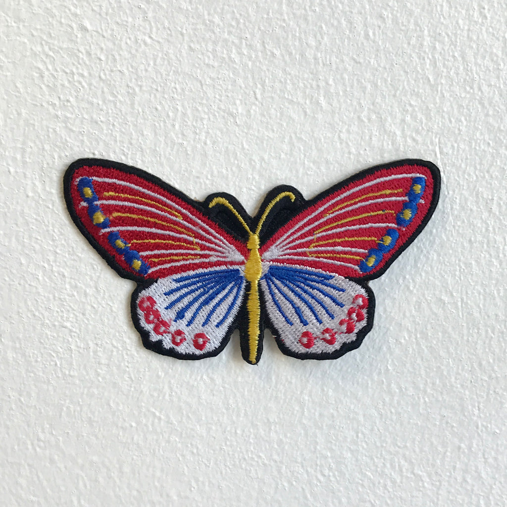 Cute Colourful Butterfly Iron Sew on Embroidered Patch - Patches-Badges