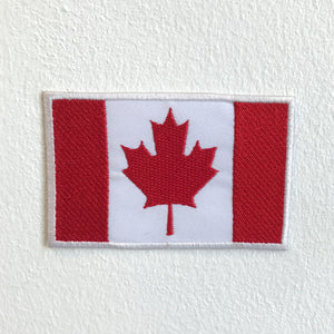 Canadian Country Flag Iron Sew on Embroidered Patch - Patches-Badges