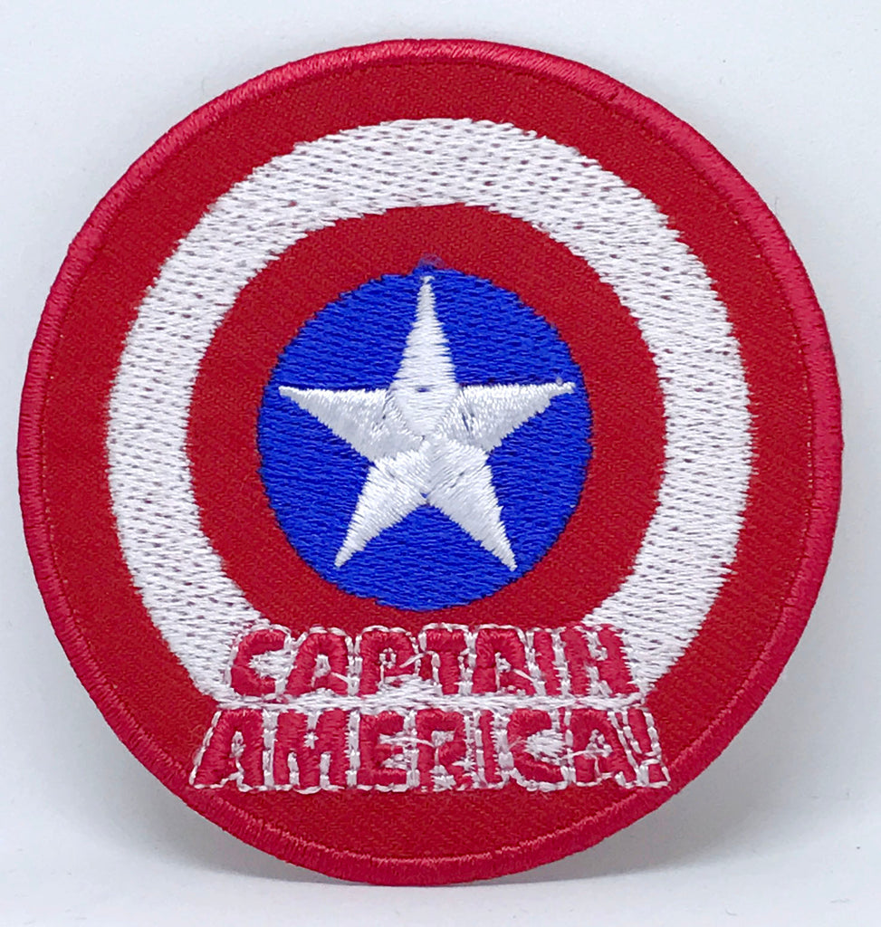 Marvel Avengers and DC Comics Iron or Sew on Embroidered Patches - Captain America Shield-2