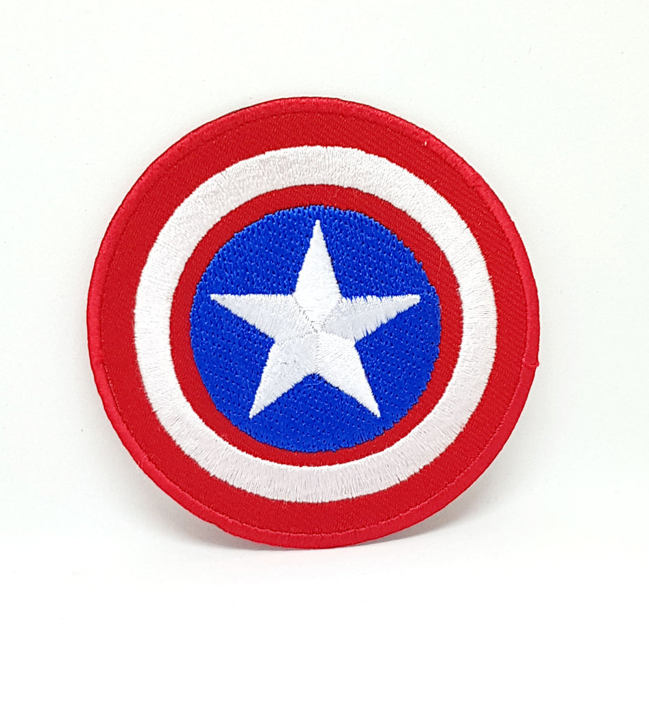Marvel Avengers and DC Comics Iron or Sew on Embroidered Patches - Captain America Shield-1