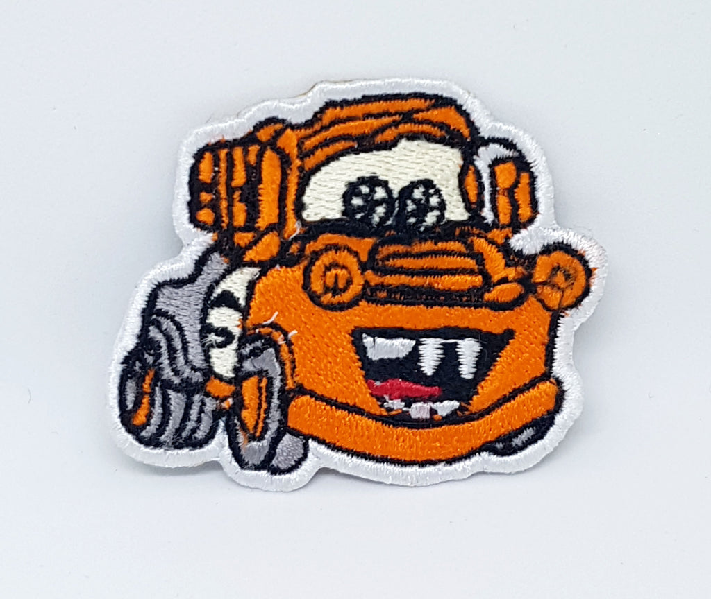 Cartoon Characters Mickey Cars Frozen Iron/Sew on Embroidered Patch - TOW MATER