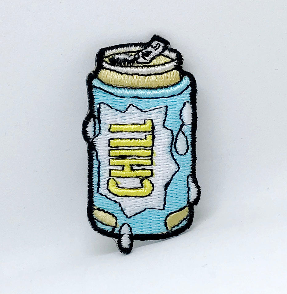Cool New Beer Can Chill Iron Sew on Embroidered Patch