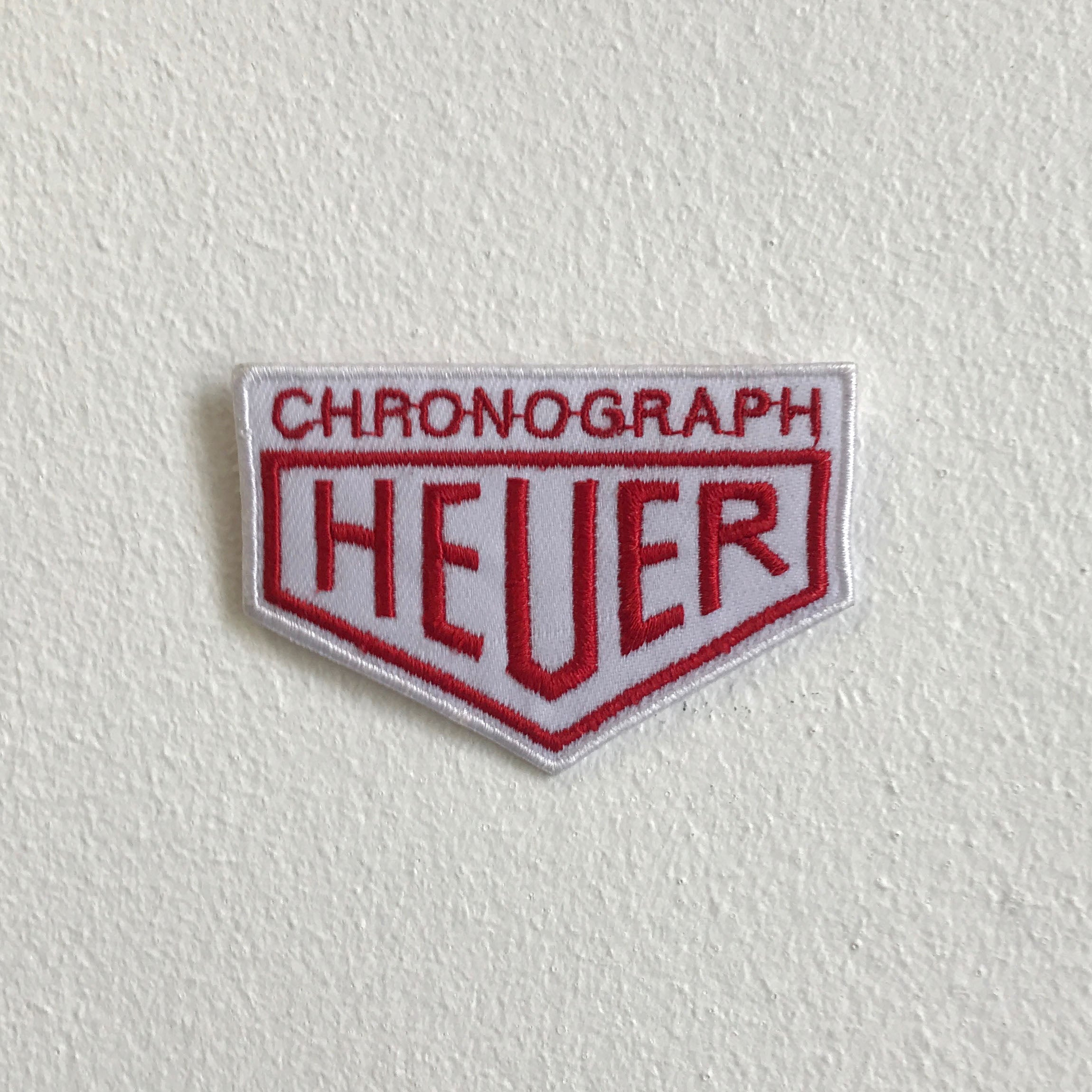 Chronograph Heuer watches badge Iron Sew On Embroidered Patch - Patches-Badges